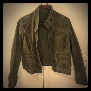 Gap short waisted army jacket
